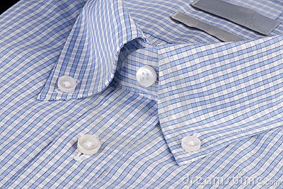 Blue shirt with button-down collar