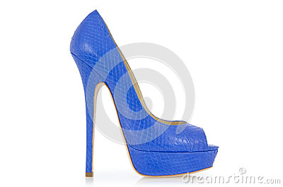 Blue shoes isolated