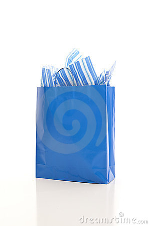 Blue shopping bag
