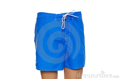 Blue shorts isolated