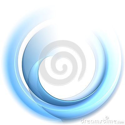 Blue silky round veil shape concept
