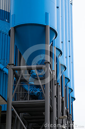 Blue silo for storage
