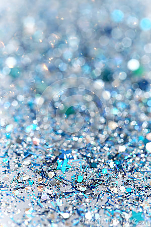 blue and silver frozen snow winter sparkling stars glitter