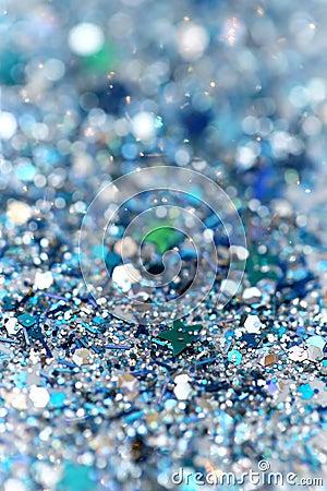 blue and silver frozen snow winter sparkling stars glitter
