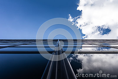Blue Skies And Clouds Reflecting In Modern Building Free Public Domain Cc0 Image