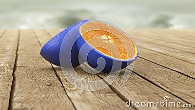 Blue skin orange