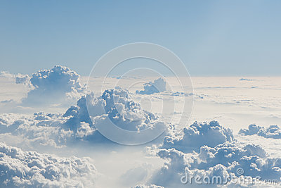 Blue sky above clouds