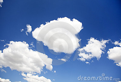 Blue sky for background