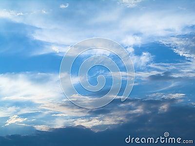Blue sky (background)