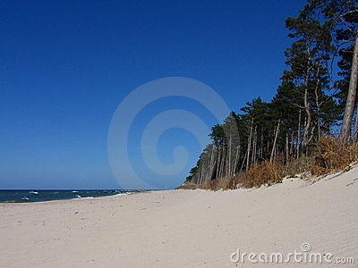 Blue sky at the baltic sea