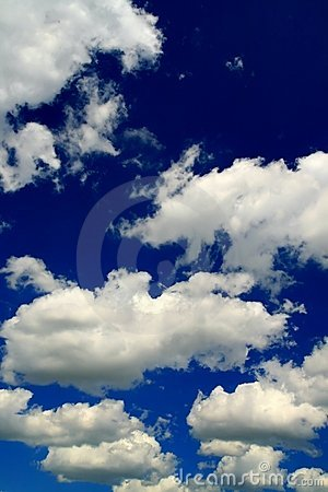 Blue sky and beauty white clouds
