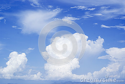 Blue sky and big clouds