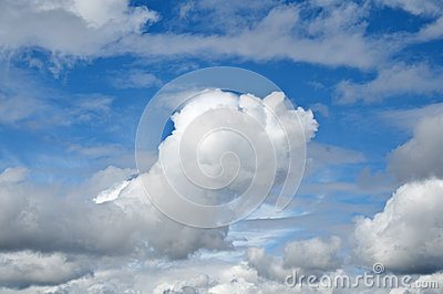 Blue sky with cloud in forefront