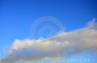 Тне blue sky with clouds