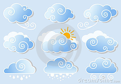 Blue sky with clouds,