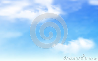 Blue sky with clouds background Vector Illustration