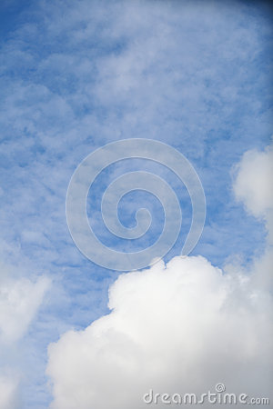 Blue sky with clouds meteorology