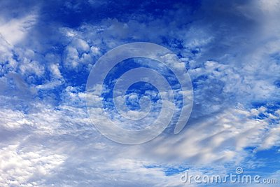 Blue sky with clouds in nice day
