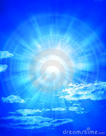 Free Blue Sky Clouds Sun Royalty Free Stock Photos - 9158168
