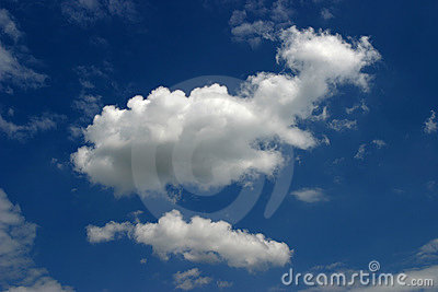 Blue sky and cloudscape