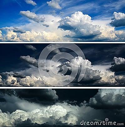 Blue sky, dramatic sky, stormy sky - set