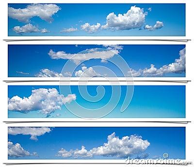 Blue sky frames.