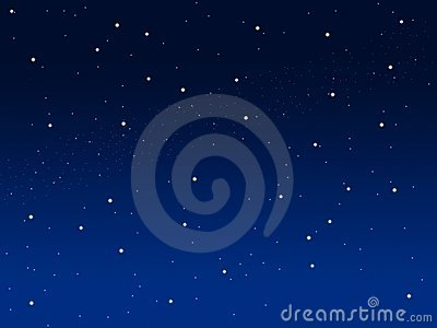 Blue sky illustration background with little stars