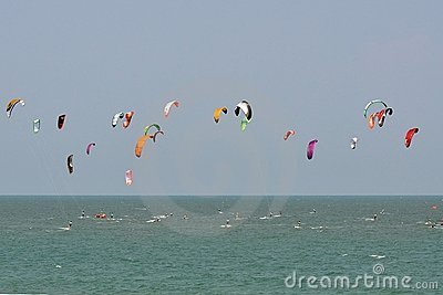 Blue sky and kitesurf in Thailand