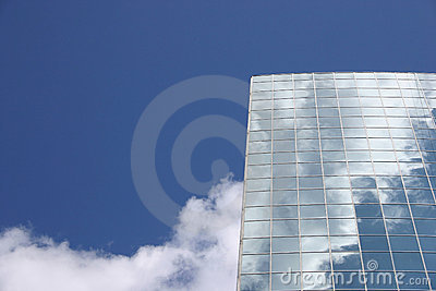 Blue sky and modern building