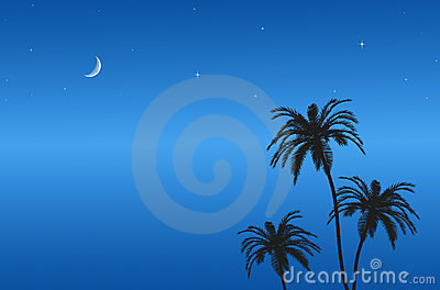 Blue sky at night