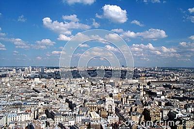 Blue sky over Montmartre 2