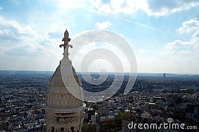 Blue sky over Paris 2 Stock Photo