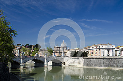 The blue sky over Rome