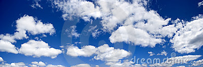 Blue sky panoramic photo