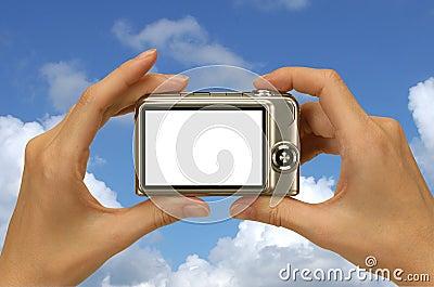 Blue sky photograph