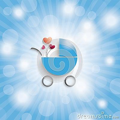 Free Blue Sky Rays Blue Boy Baby Buggy Royalty Free Stock Photo - 45604425