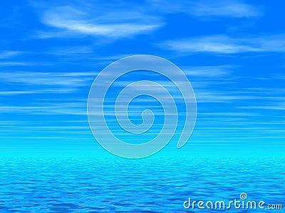 Blue sky & sea
