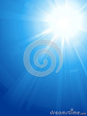 Blue sky with sun