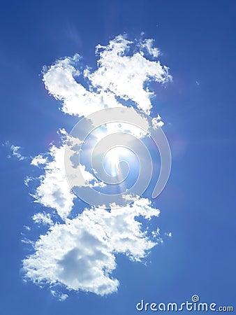 Blue sky and sun rays 2