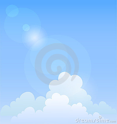 Blue sky. Vector background