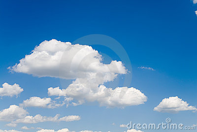 Blue sky with white clouds 2