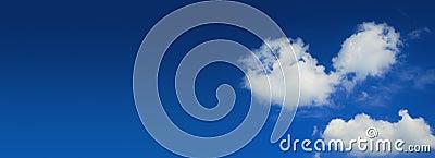 Blue sky wide panorama