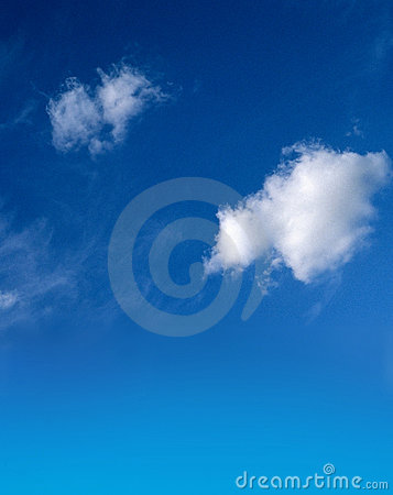 Free Blue Sky With Fluffy White Clouds Stock Photo - 1142340