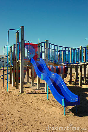 Blue Slide Play Structure