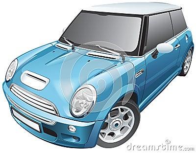 Blue small car