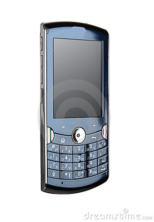 Blue smartphone / mobile phone