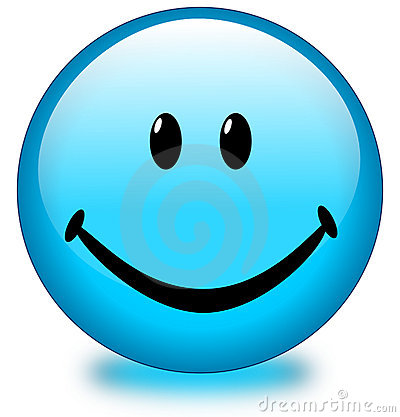 Blue Smiley Face Button Royalty Free Stock Photos - Image ... | 400 x 417 jpeg 32kB