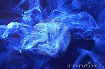 Blue smoke abstract background