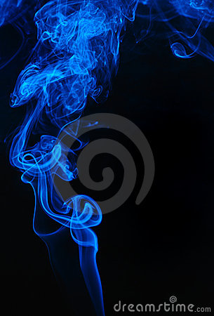 Blue Smoke on Black
