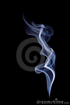 Free Blue Smoke On Black Royalty Free Stock Image - 2151836